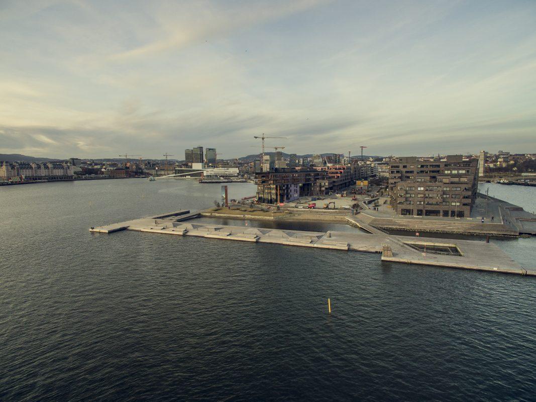 Dronefoto fra sørenga
