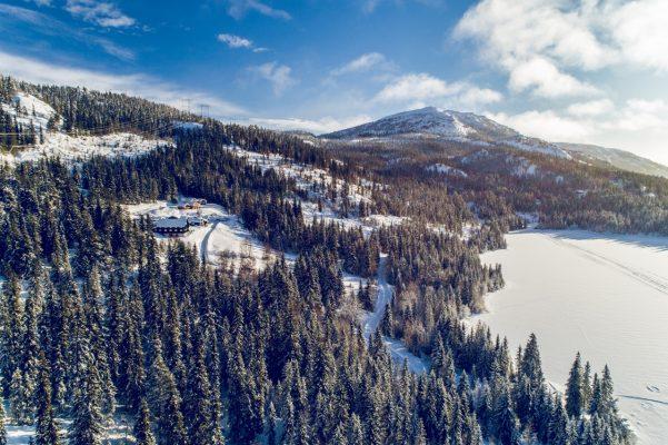 Dronefoto i solskinn
